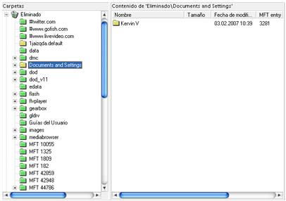 Archivos recuperados con PC Inspector File Recovery