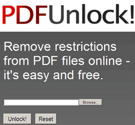 Free PDF Unlock Online Utility