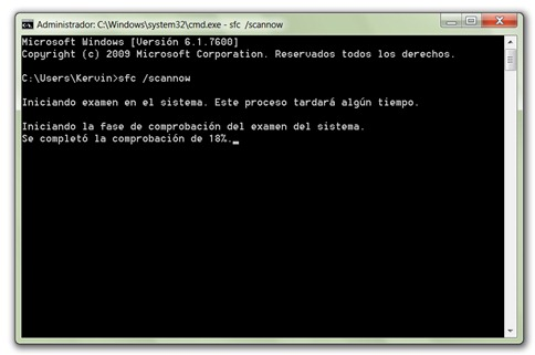 Reparar archivos corruptos de Windows - SFC Scannow