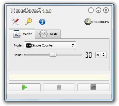 TimeComX - Interfaz del programa