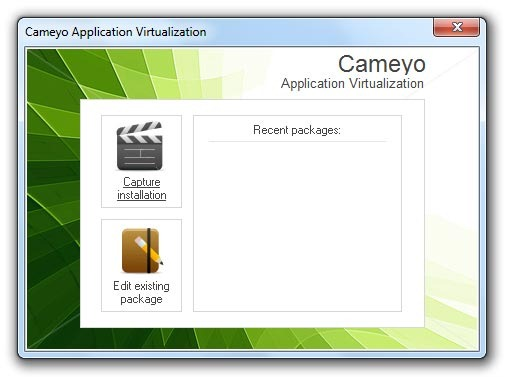 Cameyo - Interfaz del software