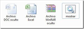 Archivos ocultos en Windows