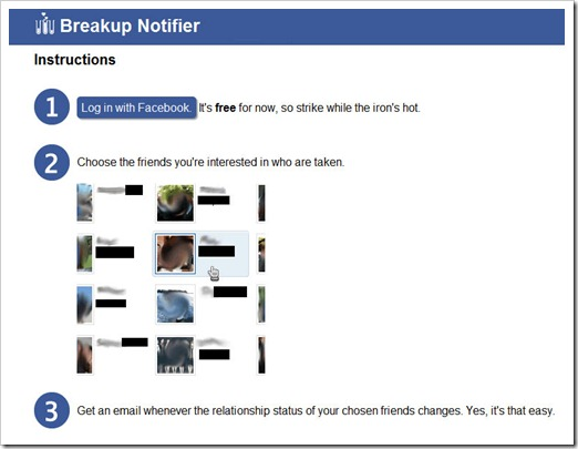 Breakup Notifier