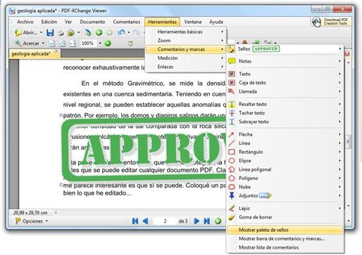 Herramientas, comentarios y marcas - PDF-XChange Viewer