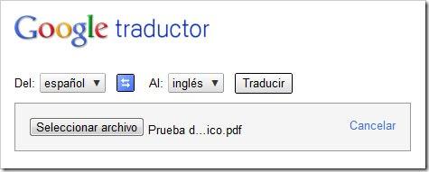 Traducir archivo PDF Traductor Google