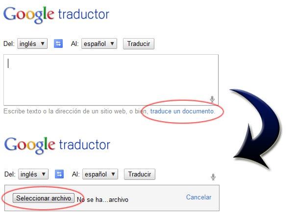 Traducir documentos o archivos PDF  con traductor de google