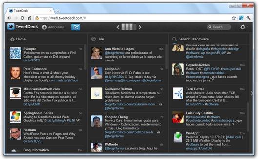 TweetDeck vía web
